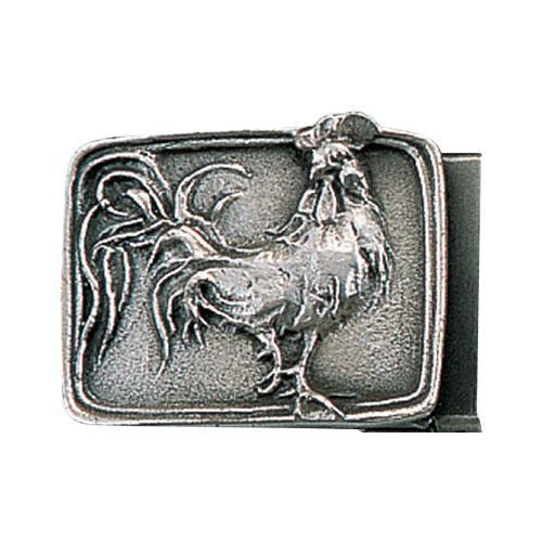 【代引き・同梱不可】高岡銅器 銅製小物 名取川雅司作 バックル ニワトリ 52-15
