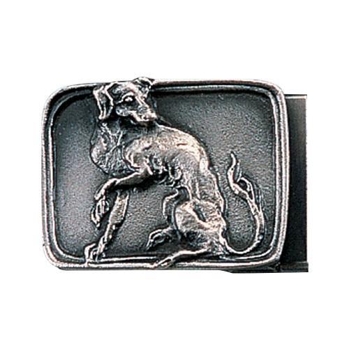 【代引き・同梱不可】高岡銅器 銅製小物 名取川雅司作 バックル イヌ 52-16
