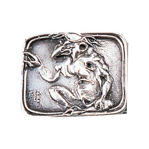 【代引き・同梱不可】高岡銅器 銅製小物 名取川雅司作 バックル カッパ 52-18