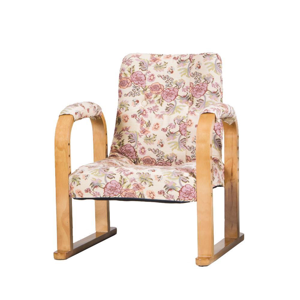 【代引き・同梱不可】らくらく椅子 ハイタイプ ゴブラン SW056KFM