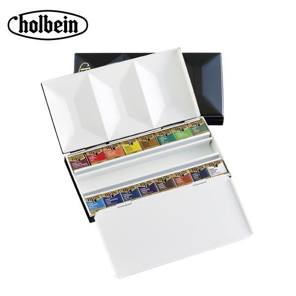 【代引き・同梱不可】ホルベイン 固形水彩絵具 パンカラー PN681 16色セット(メタルボックス) 2681