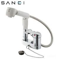 【代引き・同梱不可】三栄水栓 SANEI シングルスプレー混合栓(洗髪用)  K37100VR-13