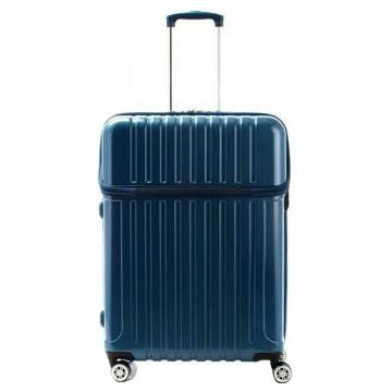 【代引き・同梱不可】協和 ACTUS(アクタス) スーツケース トップオープン トップス Lサイズ ACT-004 ブルーカーボン・74-20332簡単 トップオープン機能 便利