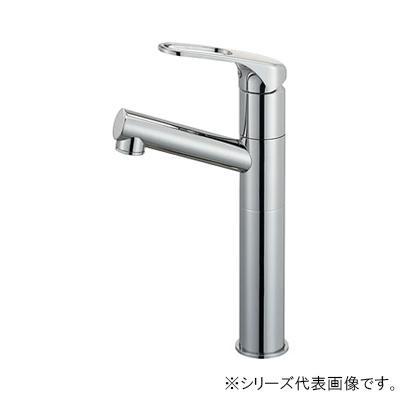 【代引き・同梱不可】三栄 SANEI シングルワンホール洗面混合栓(省施工ナット付) 寒冷地用 K475NJKZ-2TU-13
