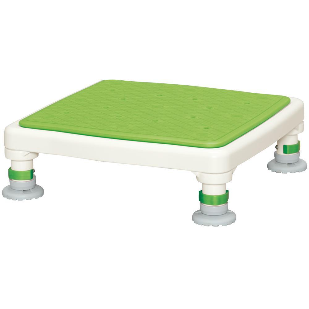 【代引き・同梱不可】アルミ製浴槽台 あしぴたシリーズ ジャストソフト グリーン 10-15