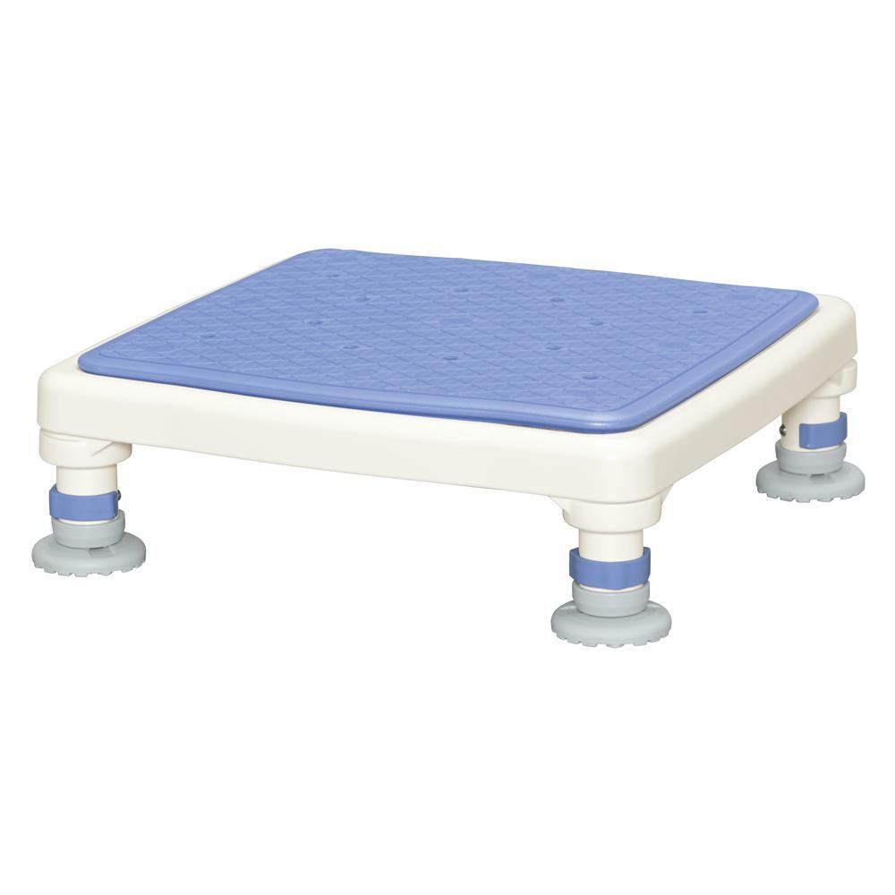 【代引き・同梱不可】アルミ製浴槽台 あしぴたシリーズ ジャストソフト ブルー 10-15