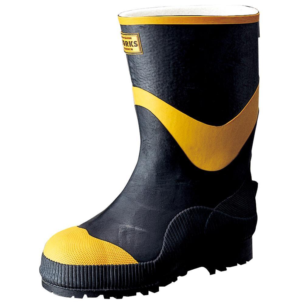 【代引き・同梱不可】弘進ゴム 長靴(ゴム製) フェルト安全半長F型 24.5cm A0026BH