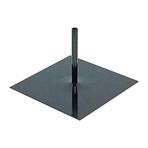 【代引き・同梱不可】日本製 のぼり立て台 室外向き LB型 黒 2台入