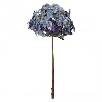 【代引き・同梱不可】アーティフィシャルフラワー ノスタルジックハイドレンジア ブルー 6本セット FD4217 アレンジメント