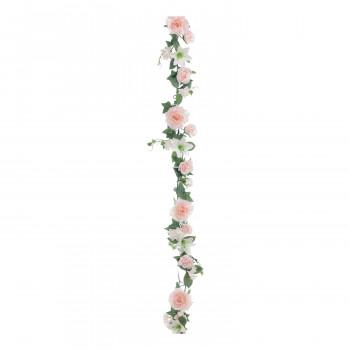 【代引き・同梱不可】アーティフィシャルフラワー ミックスローズガーランド ピンク 6本セット FD5253 アレンジメント