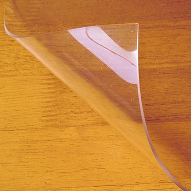 【代引き・同梱不可】日本製 両面非転写テーブルマット(2mm厚) クリアータイプ 約900×1800長 TH2-189非転写加工 キズ 透明