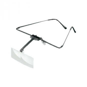 【代引き・同梱不可】エッシェンバッハ ラボ・フレーム 眼鏡のように耳に掛けるフレームタイプの作業用ルーペ (2.0倍/2.5倍) 1644-512眼鏡 メガネ型 位置調節