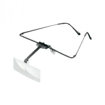【代引き・同梱不可】エッシェンバッハ ラボ・フレーム 眼鏡のように耳に掛けるフレームタイプの作業用ルーペ (2.5倍/3.0倍) 1644-523メガネ型 作業用 拡大鏡