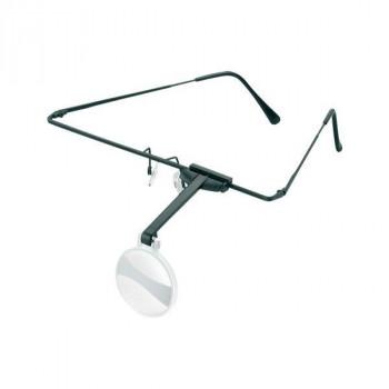 【代引き・同梱不可】エッシェンバッハ ラボ・フレーム 眼鏡のように耳に掛けるフレームタイプの作業用ルーペ (4.0倍) 1644-54メガネ型 作業用 位置調節