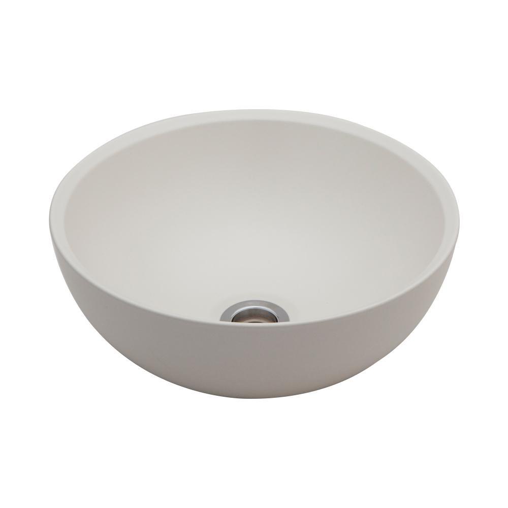 【代引き・同梱不可】置き型手洗器Φ270(モノクローム・シリーズ/艶白) LSM3-TU