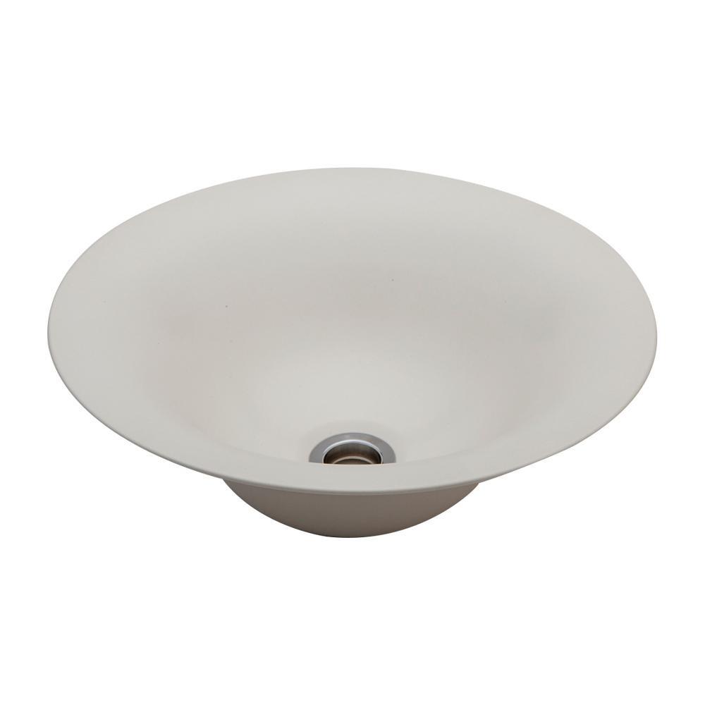 【代引き・同梱不可】置き型手洗器Φ326(モノクローム・シリーズ/素白) LSM4-MO