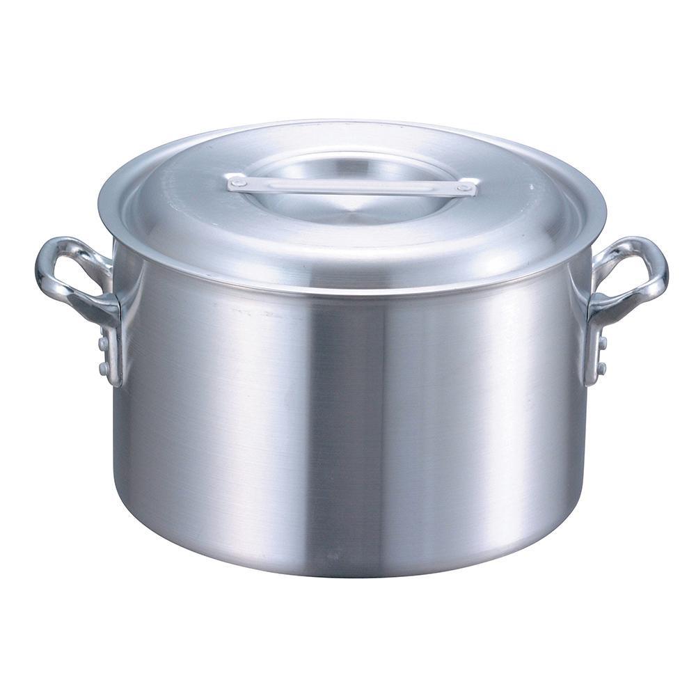 【代引き・同梱不可】EBM アルミ プロシェフ 半寸胴鍋(目盛付)39cm 8870600丈夫 調理器具 耐久