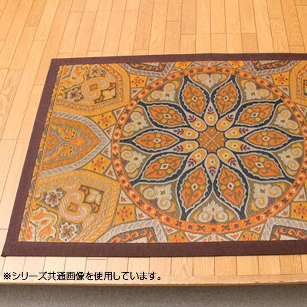 【代引き・同梱不可】純国産 い草ラグカーペット 『万華鏡』 約95×150cm 1708510
