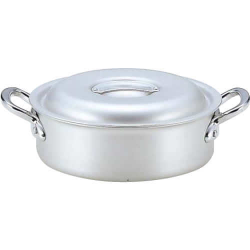 【代引き・同梱不可】3159239 業務用マイスターアルミ外輪鍋39cm