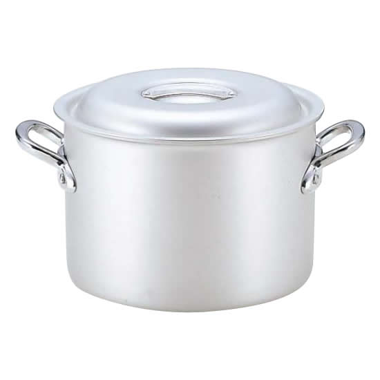 【代引き・同梱不可】業務用マイスターアルミ半寸胴鍋33cm