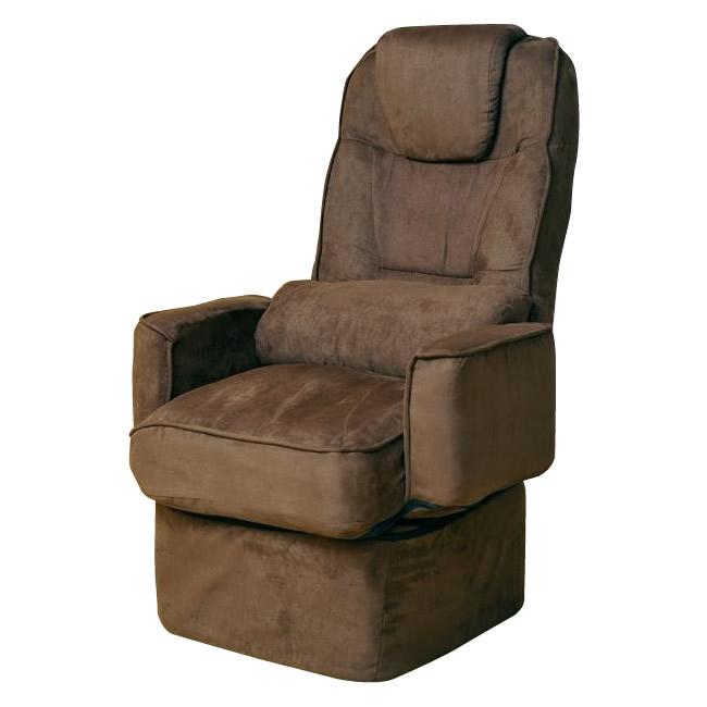【代引き・同梱不可】回転高座椅子(1脚)クッション付 360度回転式 イス