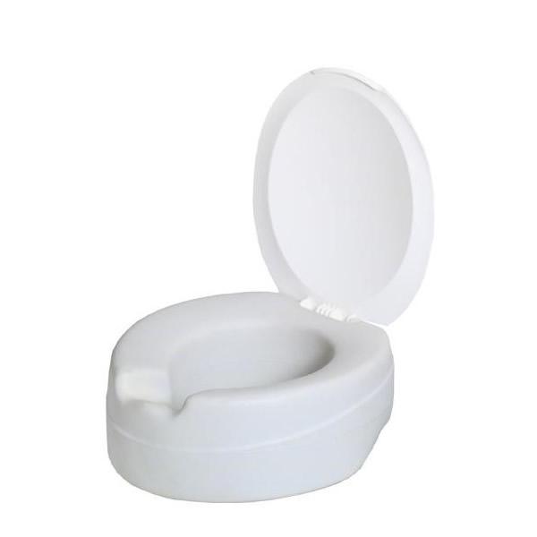 【代引き・同梱不可】フタ付き補高便座(ソフトタイプ) ホワイト 111370