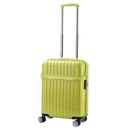 【代引き・同梱不可】協和 ACTUS(アクタス) 機内持込対応 スーツケース トップオープン トップス Sサイズ ACT-004 ライムカーボン・74-20317便利 キャビンサイズ 収納