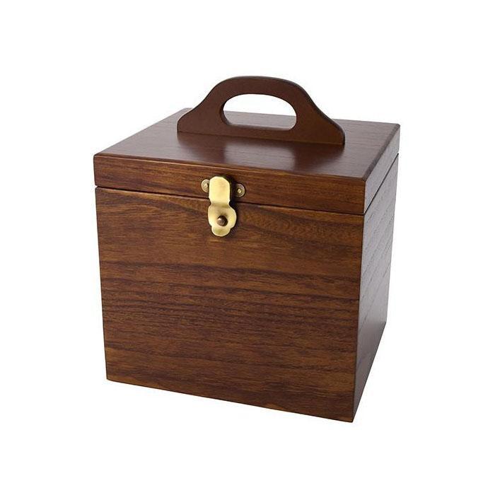 【代引き・同梱不可】茶谷産業 Made in Japan コスメティックボックス 017-512木目 基礎化粧品 化粧品