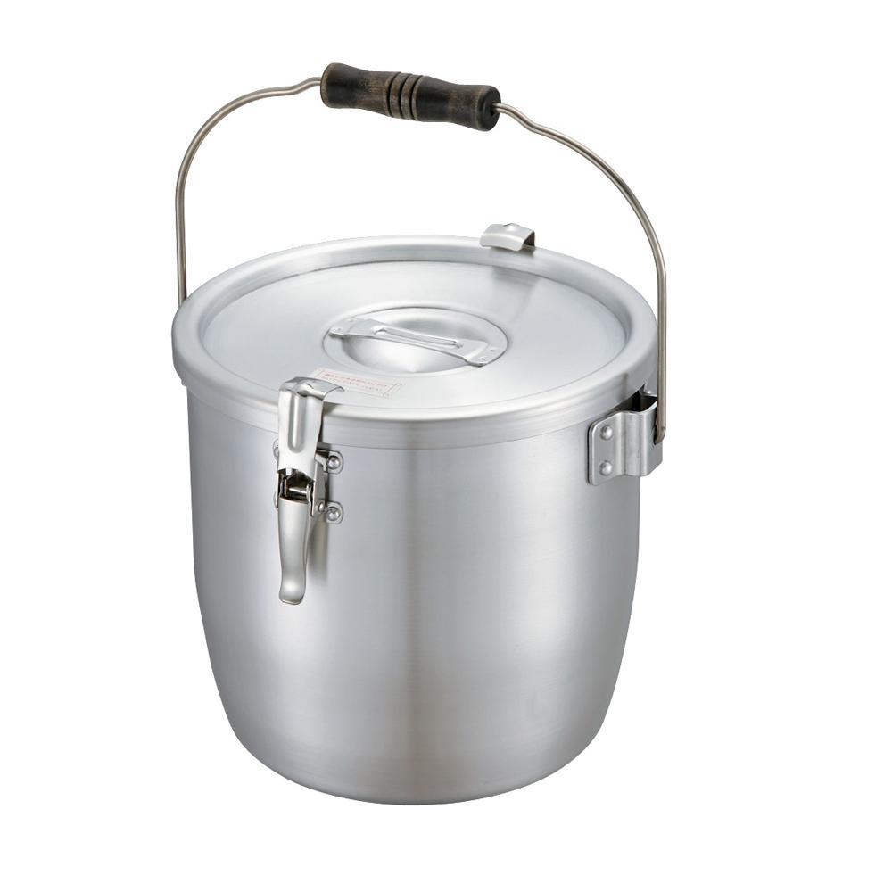 【代引き・同梱不可】N-86 アルミ パッキン寸胴鍋 24cm 5100131