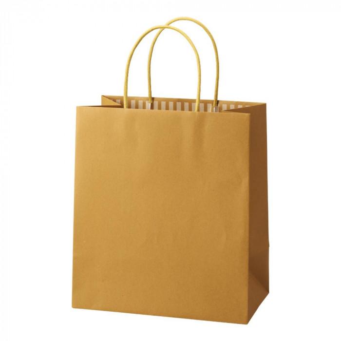 【代引き・同梱不可】パックタケヤマ 手提袋 ST カラーズ マスタード 10枚×10包 XZT68301紙袋