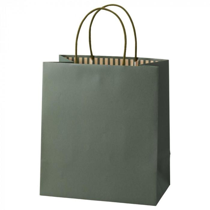 【代引き・同梱不可】パックタケヤマ 手提袋 ST カラーズ オリーブ 10枚×10包 XZT68308紙袋