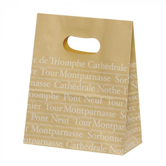 【代引き・同梱不可】パックタケヤマ 紙袋 イーグリップ M フランセ 50枚×10包 XZT52011
