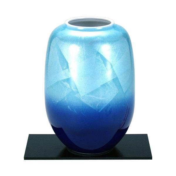 【代引き・同梱不可】九谷焼 宗秀作 8号花瓶 銀彩 N169-08