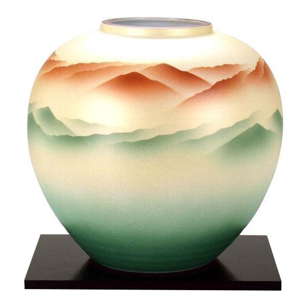 【代引き・同梱不可】九谷焼 万作作 8号花瓶 曙 N174-05