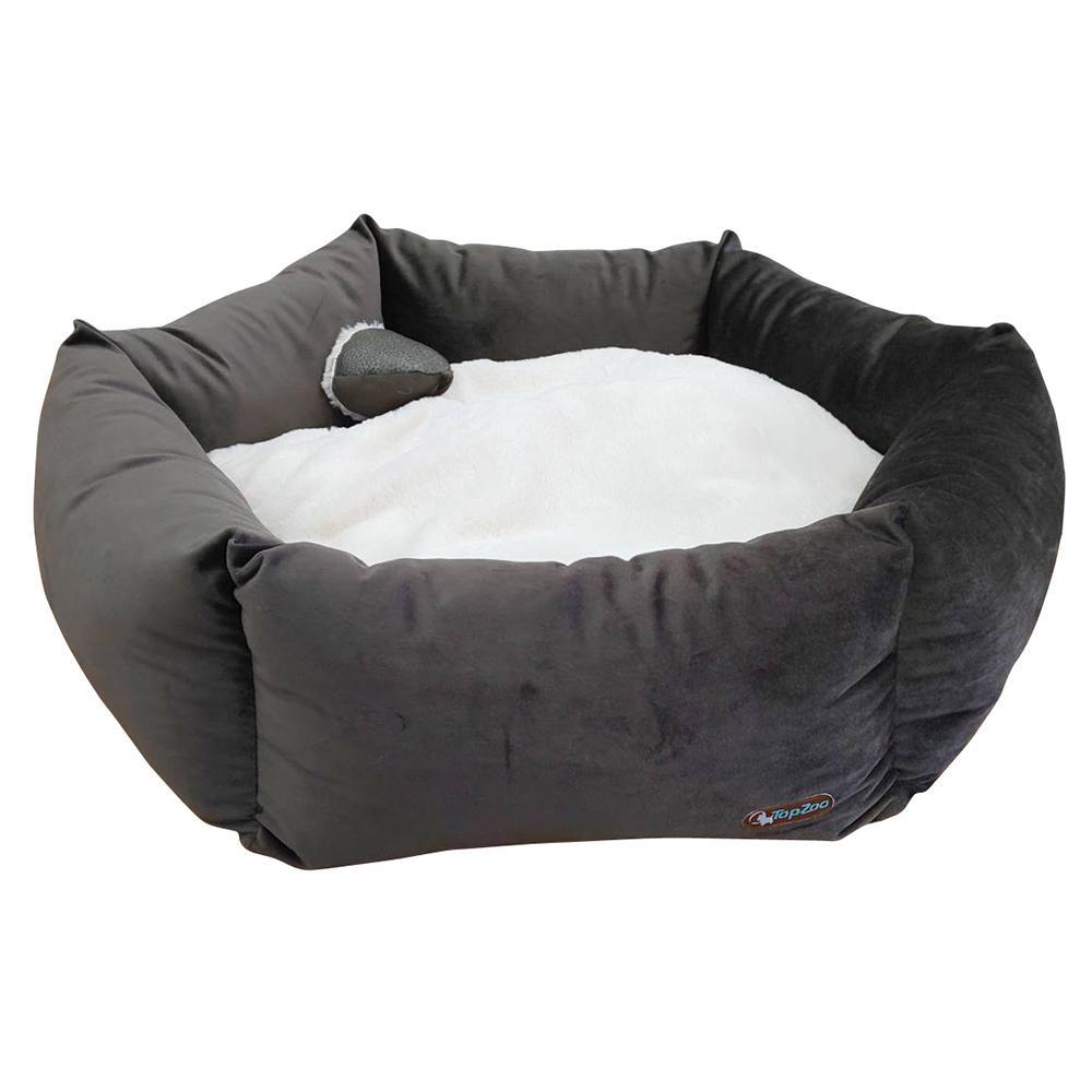 【代引き・同梱不可】TopZoo ペット用ベッド バスケット フラワー L