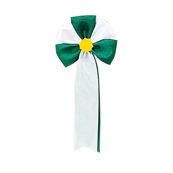 【代引き・同梱不可】ササガワ タカ印 38-263 記章 五方 緑白 100個
