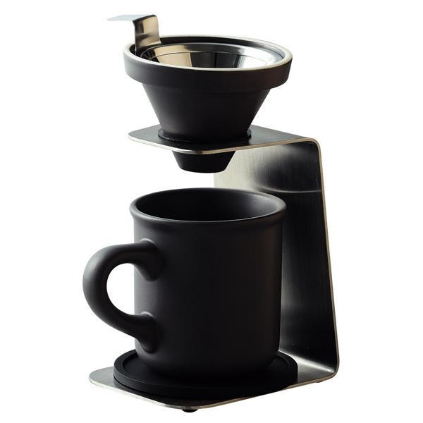【代引き・同梱不可】Brew Coffee(ブリューコーヒー) 一人用ドリッパー(グレー) 51642調理器具 コップ 食洗機使用可