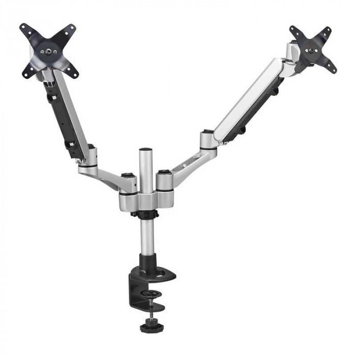 【代引き・同梱不可】モニターアーム(2面垂直タイプ) ARM220シル