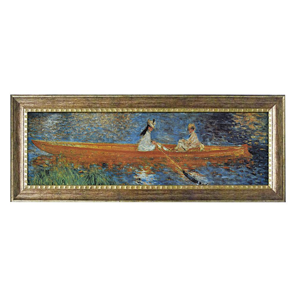 【代引き・同梱不可】ユーパワー ミュージアム シリーズ ルノワール「セーヌ川のボート遊び」 MW-18096絵 額 芸術