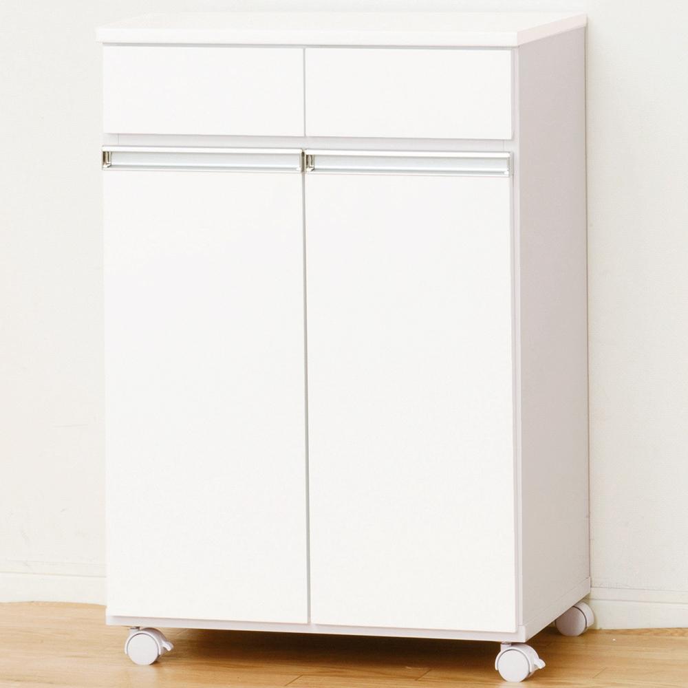 【代引き・同梱不可】ダイニングダストボックス 2D ホワイト 23703分別 カウンター ゴミ箱