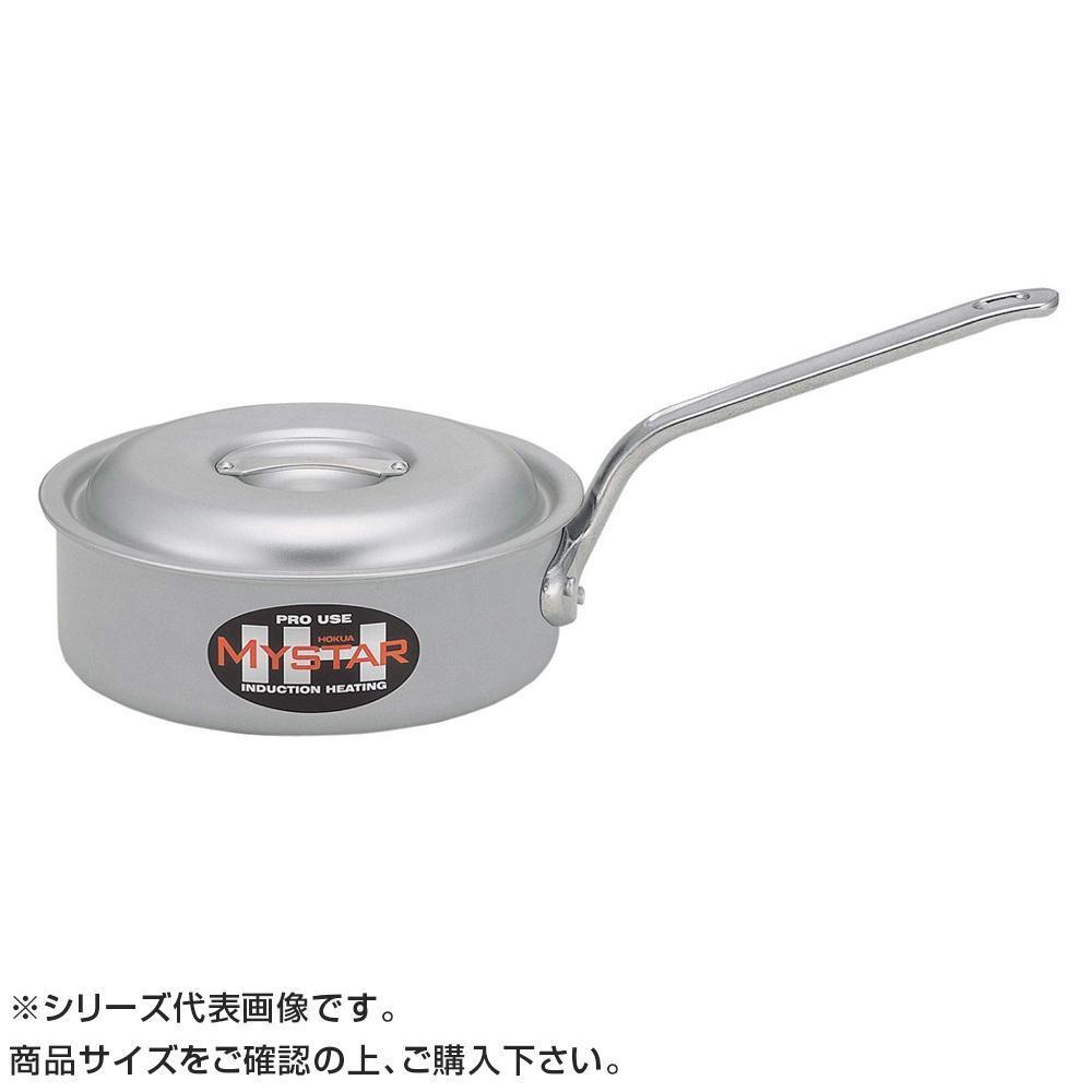 【代引き・同梱不可】業務用IH 浅型片手鍋 27cm(5.0L) 007168