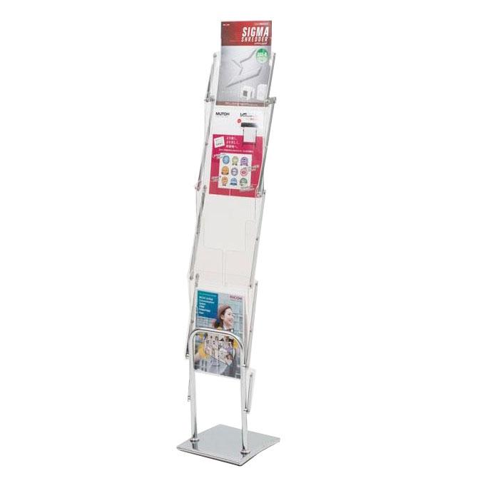 【代引き・同梱不可】モバイルパンフレットスタンドII 本体+収納バッグ 51285-2*事務用品 簡単 オフィス