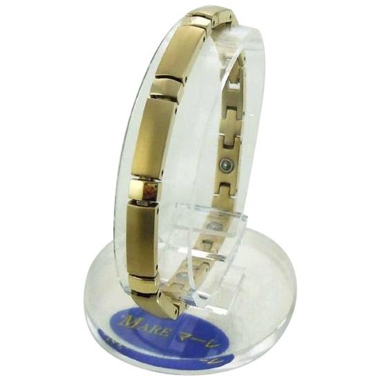 【代引き・同梱不可】MARE(マーレ) ゲルマニウムブレスレット 14G/IP ミラー/マット 174M (18.0cm) H9392-03M金 ゴールド 純チタン
