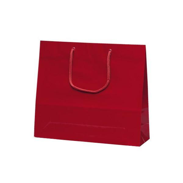 【代引き・同梱不可】ファインバッグ 手提袋 330×100×290mm 50枚 ワイン 1173業務用 紙手提げ袋 アパレル