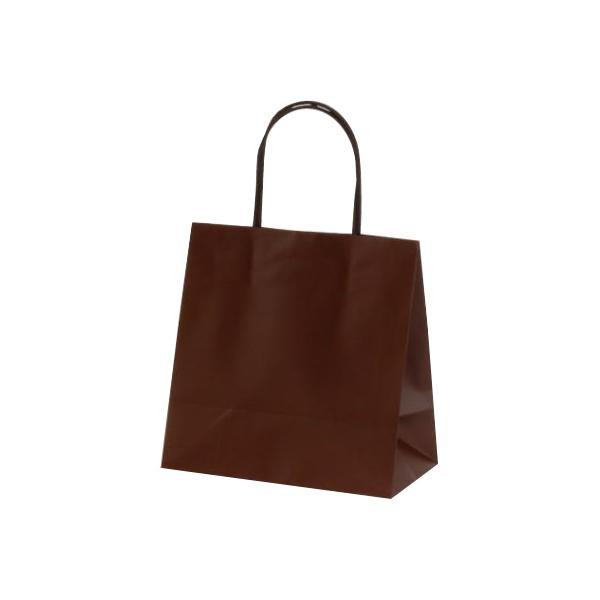 【代引き・同梱不可】マットバッグ(SS) 手提袋 220×120×220mm 100枚 ブラウン 1081ペーパーバッグ アパレル お店