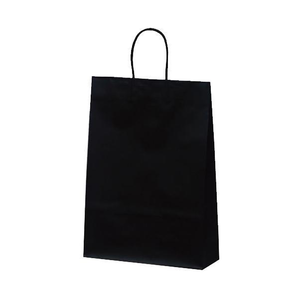 【代引き・同梱不可】マットバッグ(L) 手提袋 320×110×430mm 50枚 ブラック 1070お店 ペーパーバッグ 紙手提げ袋