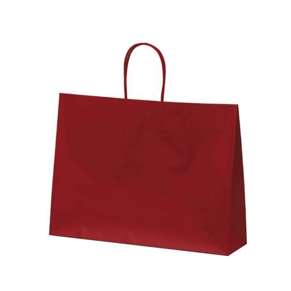 【代引き・同梱不可】マットバッグ(Y) 手提袋 430×110×320mm 50枚 ワイン 1063アパレル 紙手提げ袋 お店
