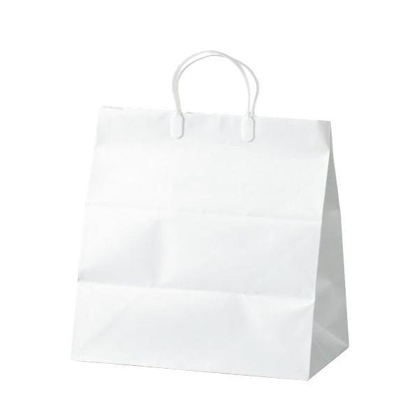 【代引き・同梱不可】ブライダルバッグリネン(小) 紙袋 350×220×365mm 50枚 ホワイト 1980紙手提げ袋 ペーパーバッグ 結婚式