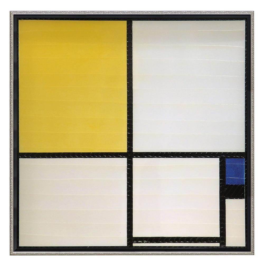 【代引き・同梱不可】ユーパワー ピエト モンドリアン「コンポジション ブルー&イエロー」 PM-20023絵 芸術 壁掛け