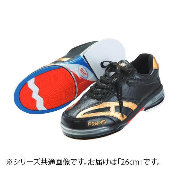 【代引き・同梱不可】ABS ボウリングシューズ ABS CLASSIC 左右兼用 ブラック・ゴールド 26cm